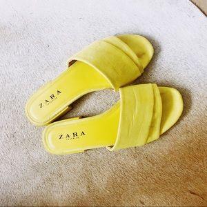 Zara Yellow Slides